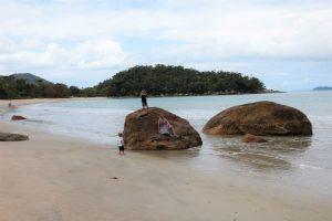 Paisagem da praia Domingas Dias, Ubatuba
