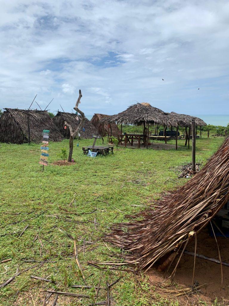 Área de barracas do Ibaté Camping