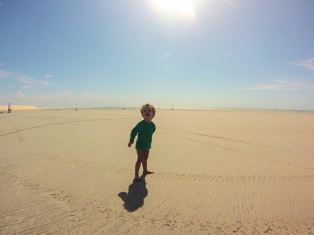 Grande faixa de areia em Jericoacoara