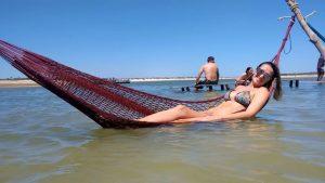 Relaxando na rede da Lagoa Azul, Jericoacoara