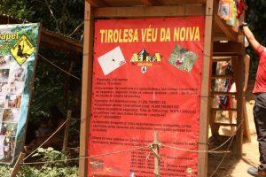 Informações da tirolesa Véu da Noiva, Bonito - PE